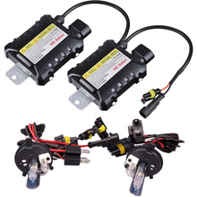цена на 1 set Xenon H4 Hid Kit 35W 55W H13 xenon 9004 9007 Halogen and Xenon bulb Car light source 4300 5000 6000 8000 10000 12000