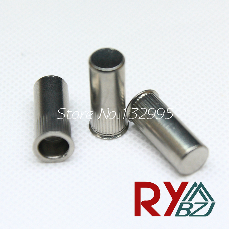 M4 M5 M6  50pcs/pack Stainless Steel Reduce head Rivet Nut/ Sealed Insert nut/Blind rivet nut/Enclosed nut SSRH006