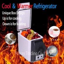 จัดส่งฟรี!!!รถตู้เย็นขนาดเล็ก6Lรถตู้เย็นABSมินิเย็นตู้เย็นและเครื่องทำความร้อนมัลติฟังก์ชั่แบบพกพารถตู้แช่แข็ง