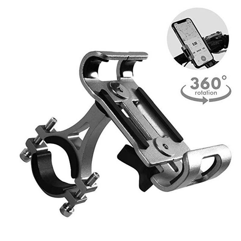 Aluminum <font><b>Bicycle</b></font> Phone <font><b>Holder</b></font> Mount 3.5-6.5 inch <font><b>Smartphone</b></font> Non-slip Bike Phone Stand Mount for Samsung 1plus Xiaomi iphone image