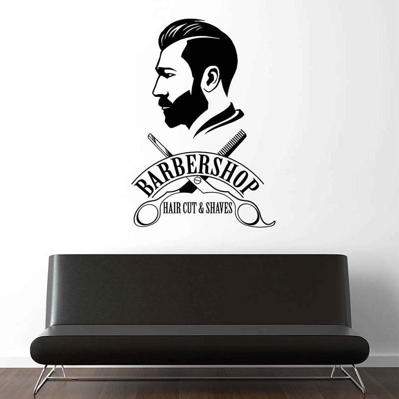 Custom Barber Shop Window Sign Business Barbershop Decal Sticker Hair Dresser