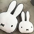 Novas Ins Miffy coelho travesseiro coelho bonito crianças para apaziguar a boneca tecido de algodão travesseiro bebê adereços câmera