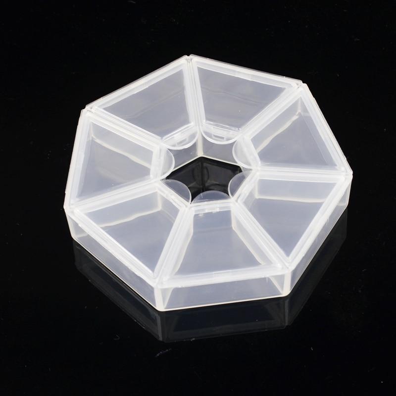 ZKO 1Pc 7 Grids Clear Lege nageldecoraties Displaycontainer met - Nagel kunst