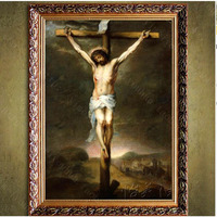 hand painted Oil painting decorative oil painting on canvas Jesus the crucifixion canvas painting art painting Living room decor