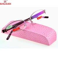 Reale Di 2019 Occhiali Da Lettura Magnetica = shuai Di = Semi-cerchio Di Modo Tr90 Super Dame Di Luce Montatura per occhiali Da Lettura occhiali + 1 A + 6