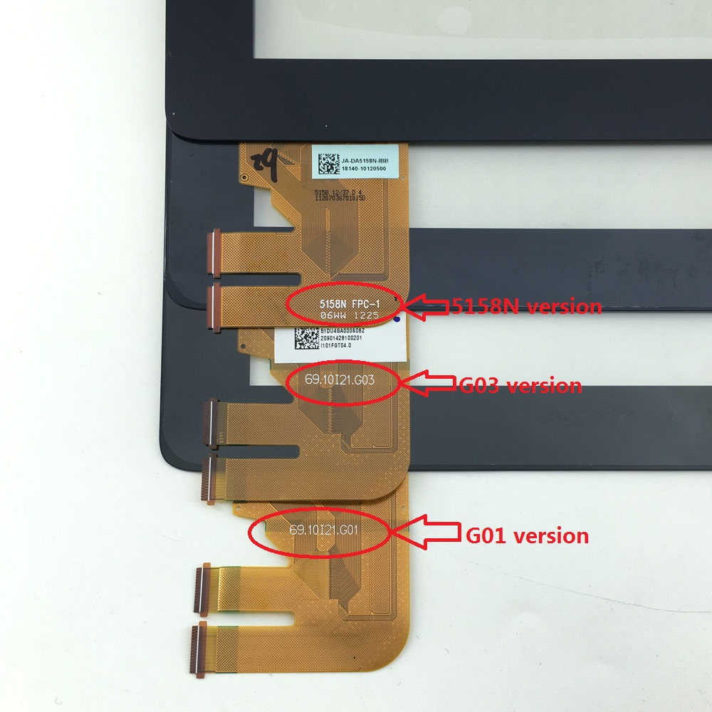 Touch Screen Digitizer Glass Sensor Panel For Asus EeePad Transformer TF300 TF300T TF300TG TF300TL 5158N G01 G03 VERSION