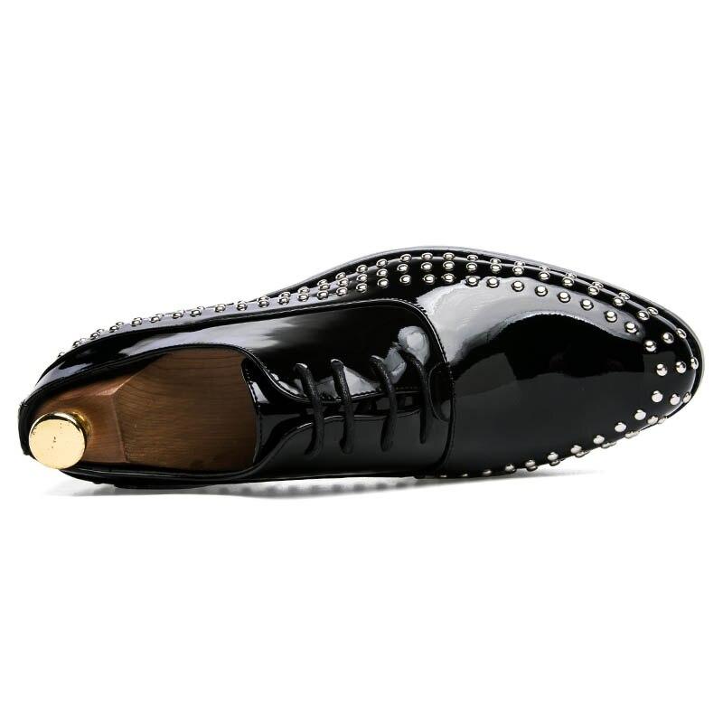 Lace Livre Conforto Navio Cor Homem mocassim De Gommino Sapatos Pu Nova blue Negócios Para red Chegada Up Moda Black Couro Rivet 3 6pqx8wU