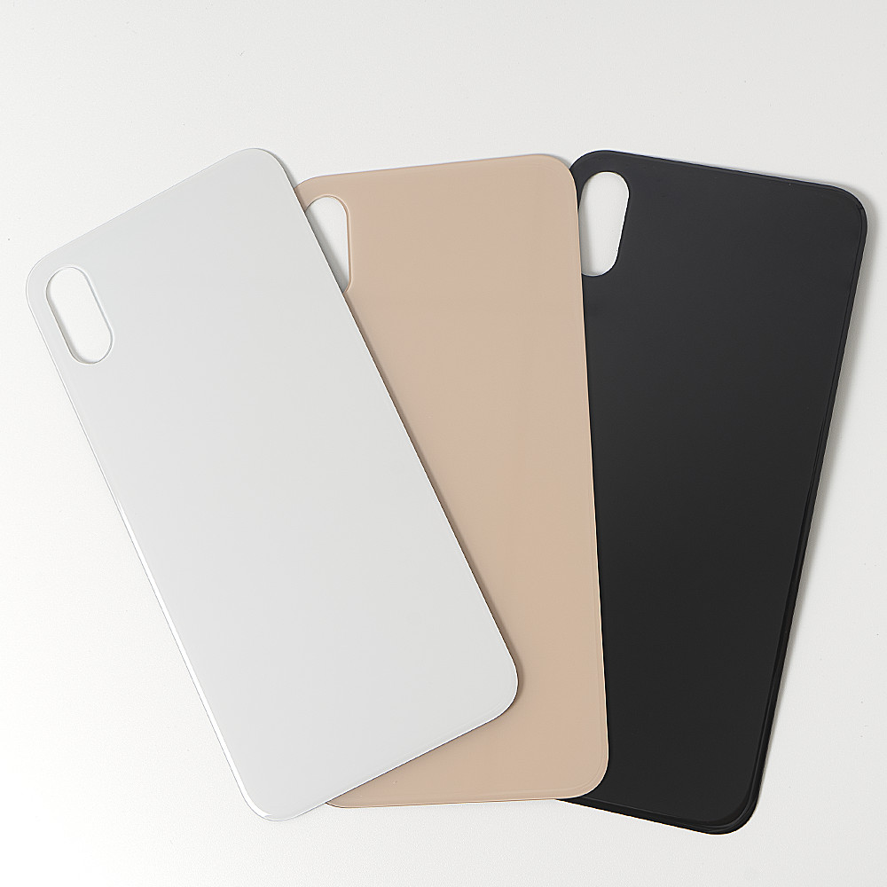 High Quality For iphone 8 8 Plus X XR XS Back Glass Housing + Adhesive Rear Crystal Panel Plate Battery Cover Lid Shell 3