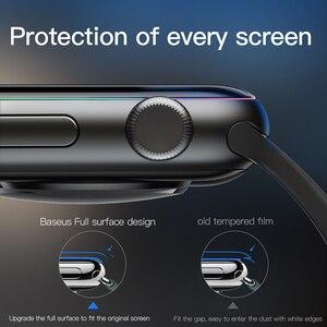 Image 4 - Baseus 0.2mm 얇은 보호 유리 Apple Watch 4 5 6 SE 3D Full Coverage 강화 유리 iWatch 4 3 2 화면 보호기