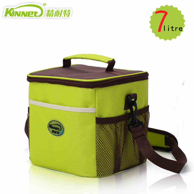 KinNet Ice bag Multipurpose Thermal bag Cooler for food Fabric of Oxford Aluminum foil liner 7L portable fresh-keeping Lunch bag
