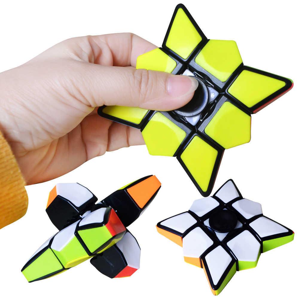 Новый стиль Crazy Hot Finger Spinner волшебный куб головоломка на скорость кубики обучающие игрушки для 2019 подарок на день детей