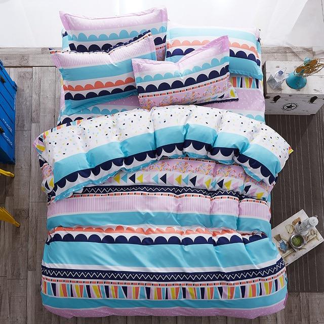 постельное белье Летом Стиль Beddling набор Прохладный ночной пододеяльник набор Звезда и луна кровать набор Взрослых постельные принадлежности цветок постельное белье сосна серый кровать