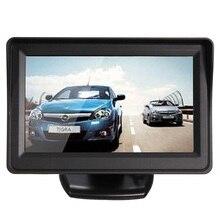 "AUTO 4.3 ""TFT LCD de Coches Vista Trasera Del Monitor + CMOS Impermeable Cámara de Visión Nocturna Reversa"