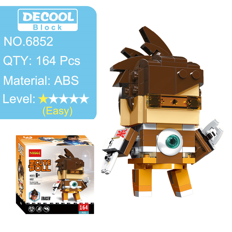 Overwatching Tracer Hanzo Mccree Dva Toys Action Figure Blocks Figures Game Character Figurines  Toy Gift For Boy Men 2