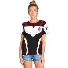 Avengers: Endgame 3d T Shirt Marvel White Tech Suits MCU Fans Women Streetwear Tee Hero Tshirt Unisex Drop Shipping
