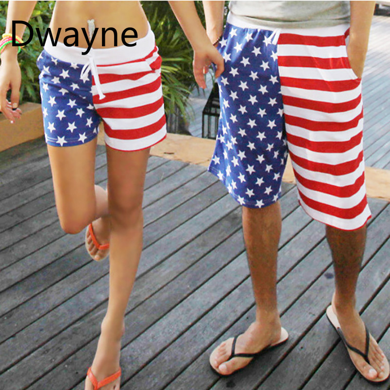 American Flag Men's Board Shorts Couple Beach Pants Europe And The United States Male Speed Dry Explosion Models Board Shorts