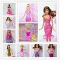 Бесплатная Доставка, 30 шт Типа Смешивания Цвета смешивания одежда вечернее платье Для Барби, одежда для куклы барби, кукла аксессуары для барби