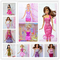 Free Shipping,30items Mix Style Mix Color clothes evening dress For Barbie,clothes for barbie doll,doll accessories for barbie