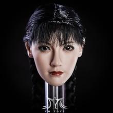 Fang 1/6 Mai Shiranui Head Asia Girl Carved Female Carving Beauty Sculpt for 12 HT Figure Body