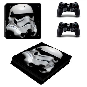 Image 4 - Film Star Wars PS4 Slim Haut Aufkleber Aufkleber Vinyl für Playstation 4 Konsole und 2 Controller PS4 Slim Haut Aufkleber