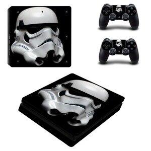 Image 4 - ฟิล์มStar Wars PS4 Slimสติกเกอร์ผิวรูปลอกไวนิลสำหรับPlaystation 4 คอนโซลและ 2 ตัวควบคุมPS4 Slimสติกเกอร์ผิว