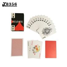 K8356 Baru Baccarat HOT Texas Hold'em PVC Plastik Bermain Kartu kalis air Frosting Poker Card Board Bridge Game 2.28 * 3.46 inch
