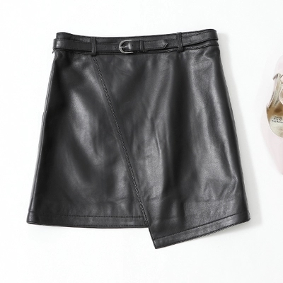 Image 2 - 2019 New Leather Sheepskin Skirt High Waist Skirt J14Skirts