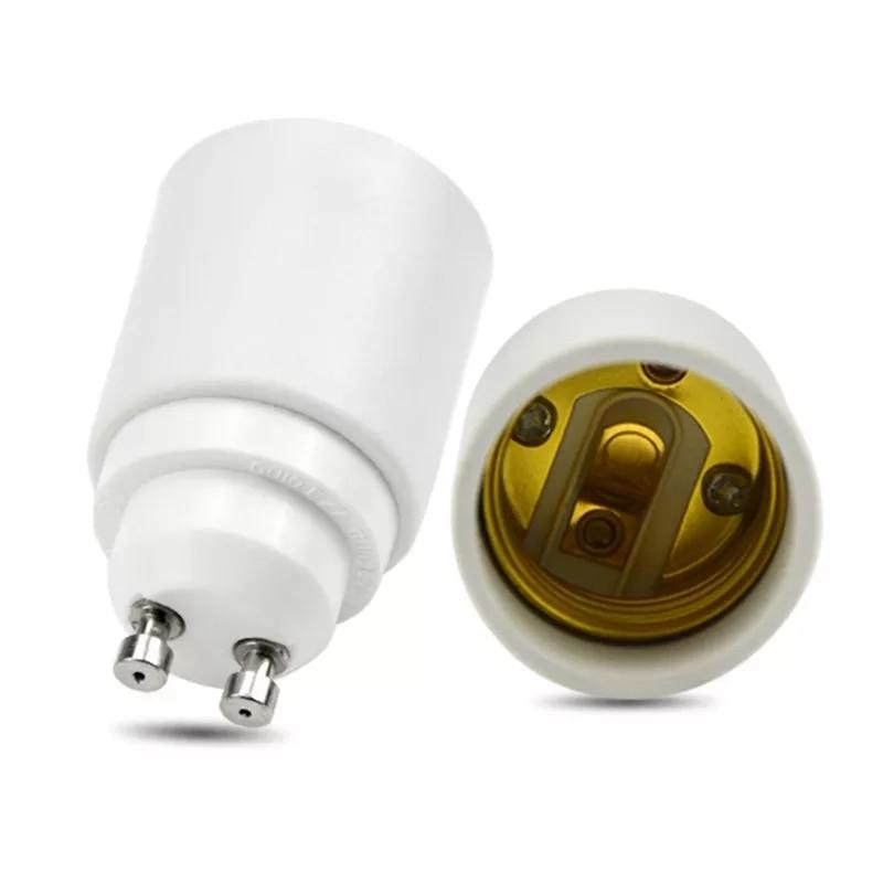 AC110-250V GU10 To E27 Bulb Base Lamp Holder Converters Socket Adapter Universal Light Converter Socket Change