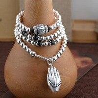 Women Bracelet Kehribar Wholesale Necklace S925 Pure Jewelry Diy Craft Style Female Of Many 108 Bergamot Bracelet New Products