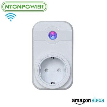NTONPOWER Wifi Thông Minh Ổ Cắm Điện EU Cắm Không Dây ỨNG DỤNG Điều Khiển Từ Xa Hẹn Giờ Chuyển Mạch Làm Việc với Alexa cho Nhà Thông Minh Tự Động Hóa