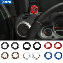 MOPAI ABS Автомобильный интерьер колонна динамик украшение крышка отделка наклейки аксессуары для Jeep Wrangler 2008-2014 автомобиль Стайлинг