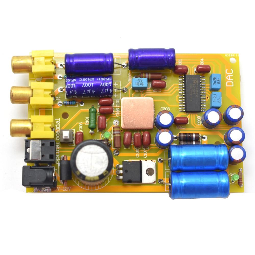 Unterhaltungselektronik Gewidmet Tda1315t Dc6v-12v Audio Dac Optische Fiber Coaxial Analog Audio Decoder Hifi Verstärker Bord F6-002 QualitäTswaren Digital-analog-wandler