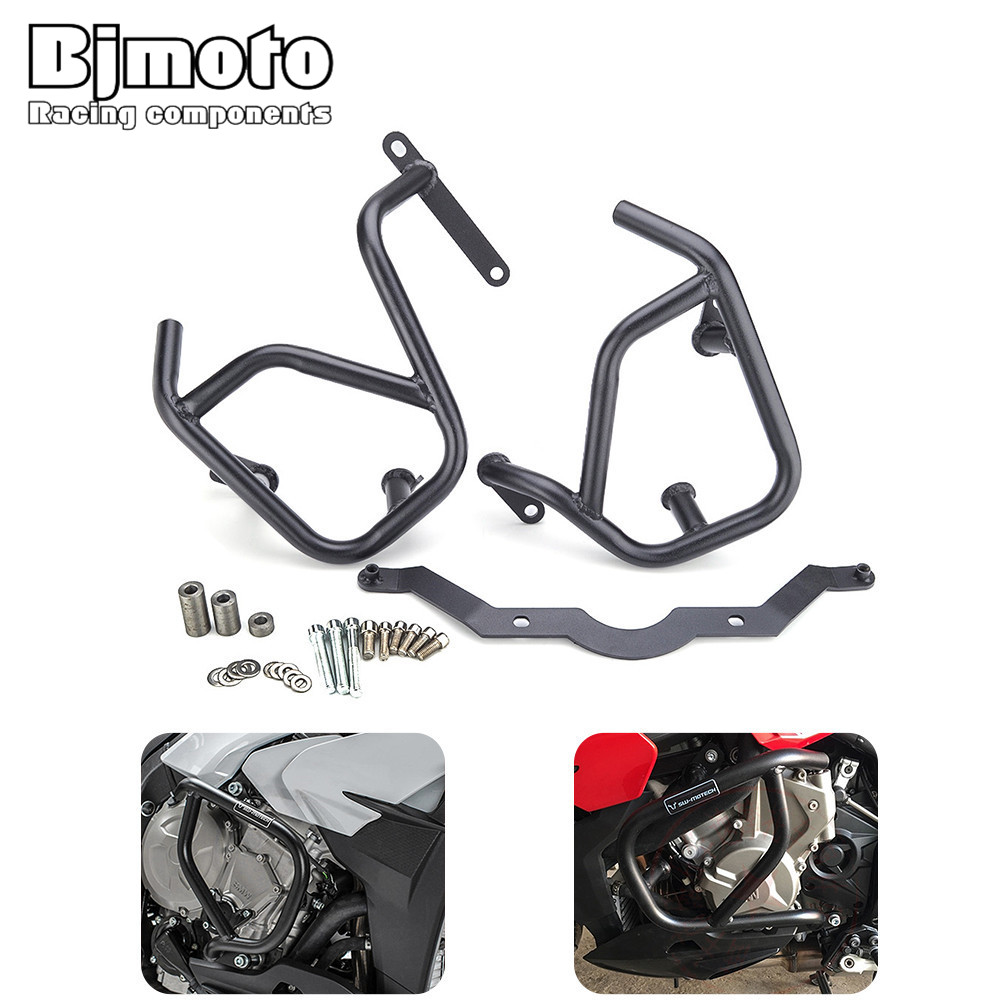 Bjmoto motorbike Motorcycle S1000XR Front Engine Guard Protection Crash Bars For BMW S1000XR 2015 motocross Frame Guard bjmoto steel falling protection motorcycle engine crash bars guard bumper for kawasaki z900 2017