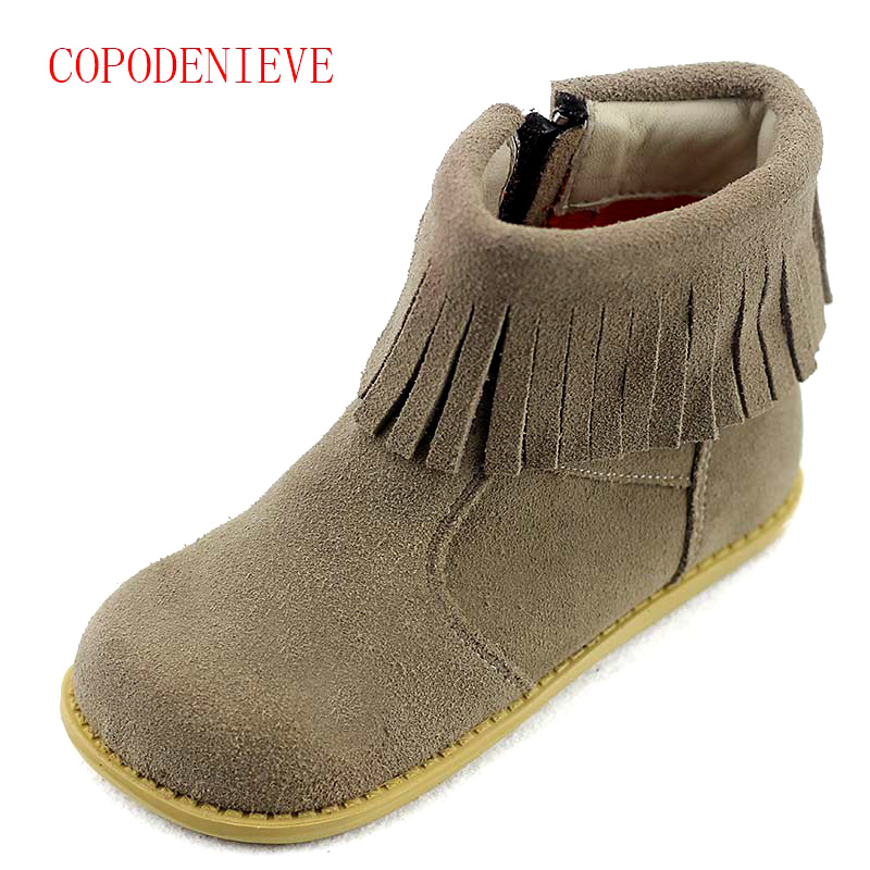 Image 3 - Winter warm boots for girls children's shoes girls snow boots girl baby fringe boots kids martin boots warm shoes-in Boots from Mother & Kids