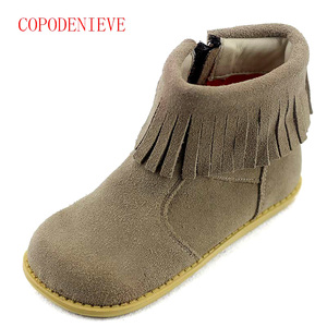 Image 3 - Winter warm boots for girls childrens shoes girls snow boots girl baby fringe boots kids martin boots warm shoes