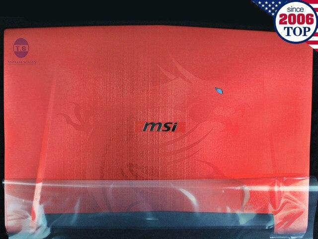 NOVO Para MSI GT72 GT72S 1781 1782 LCD Back Cover 307-782A433-Y31 307-782A436-Y31 Vermelho Frete Grátis