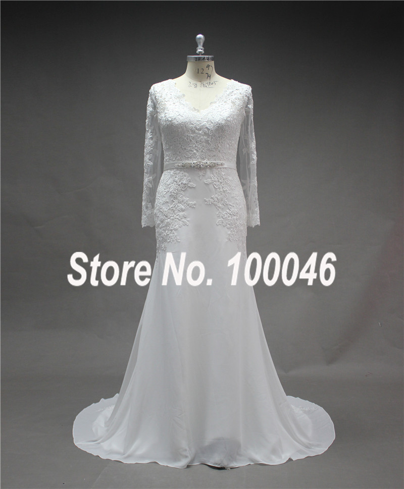 Buy plus size wedding gowns real photo for Wedding dress appliques suppliers