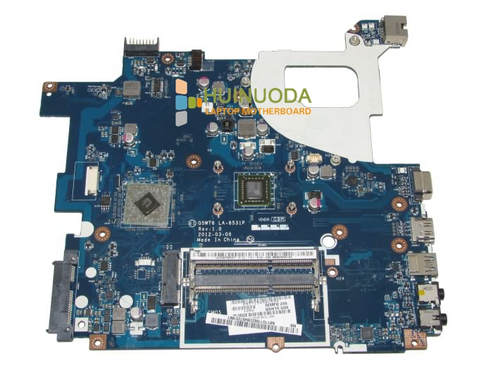 ФОТО Q5WT6 LA-8531P NB.Y1G11.002 NBY1G11002 Laptop motherboard For Acer Aspire E1 521 AMD E300 CPU Onboard DDR3