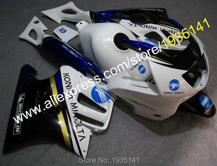 Hot Sales,For Honda CBR600 F3 1997-1998 Cowling CBR 600 F3 97-98 CBR600F3 Konica Minolta Motorcycle Fairings (Injection molding)