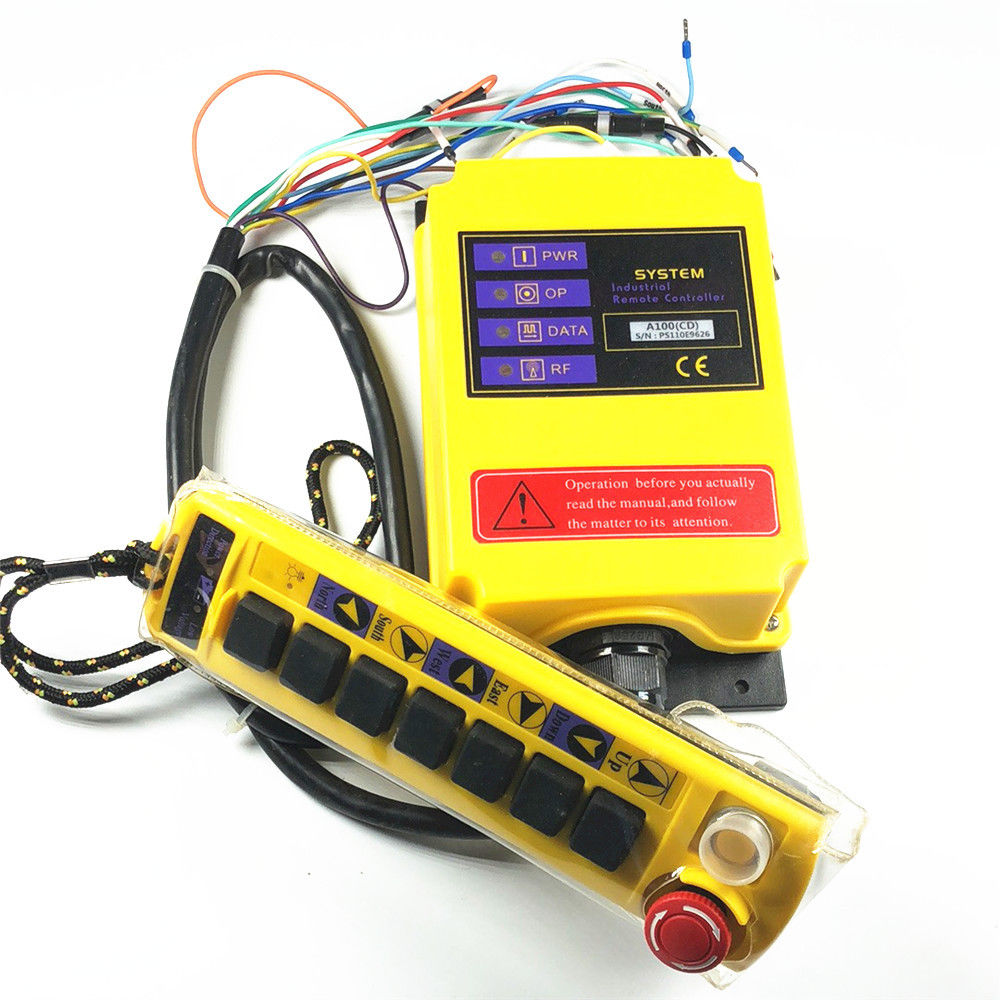 2 Speed 1 Transmitter Control Hoist Crane Remote Control System  Choose Voltage 30a esc welding plug brushless electric speed control 4v 16v voltage