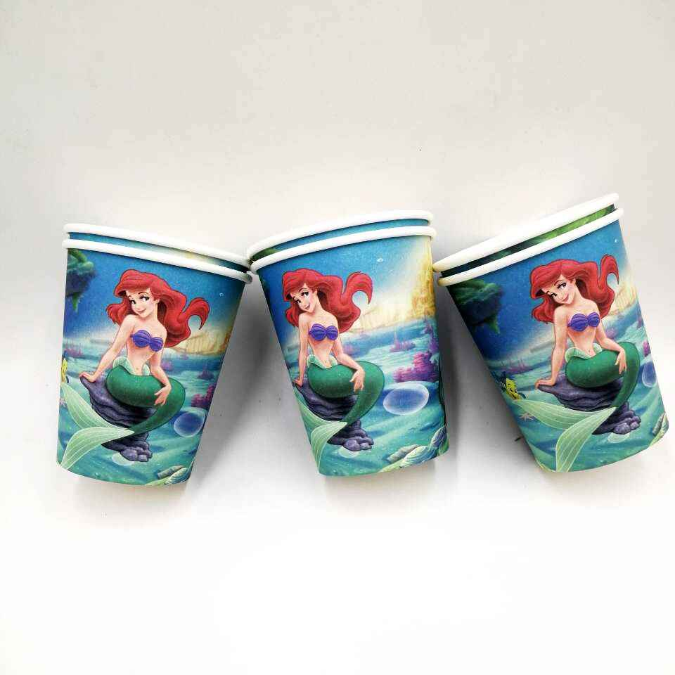 Little Mermaid party supplies Tablecloth Fish cups Straw Candy box  Decoration baby shower Party Supplies Event & Party Supplies