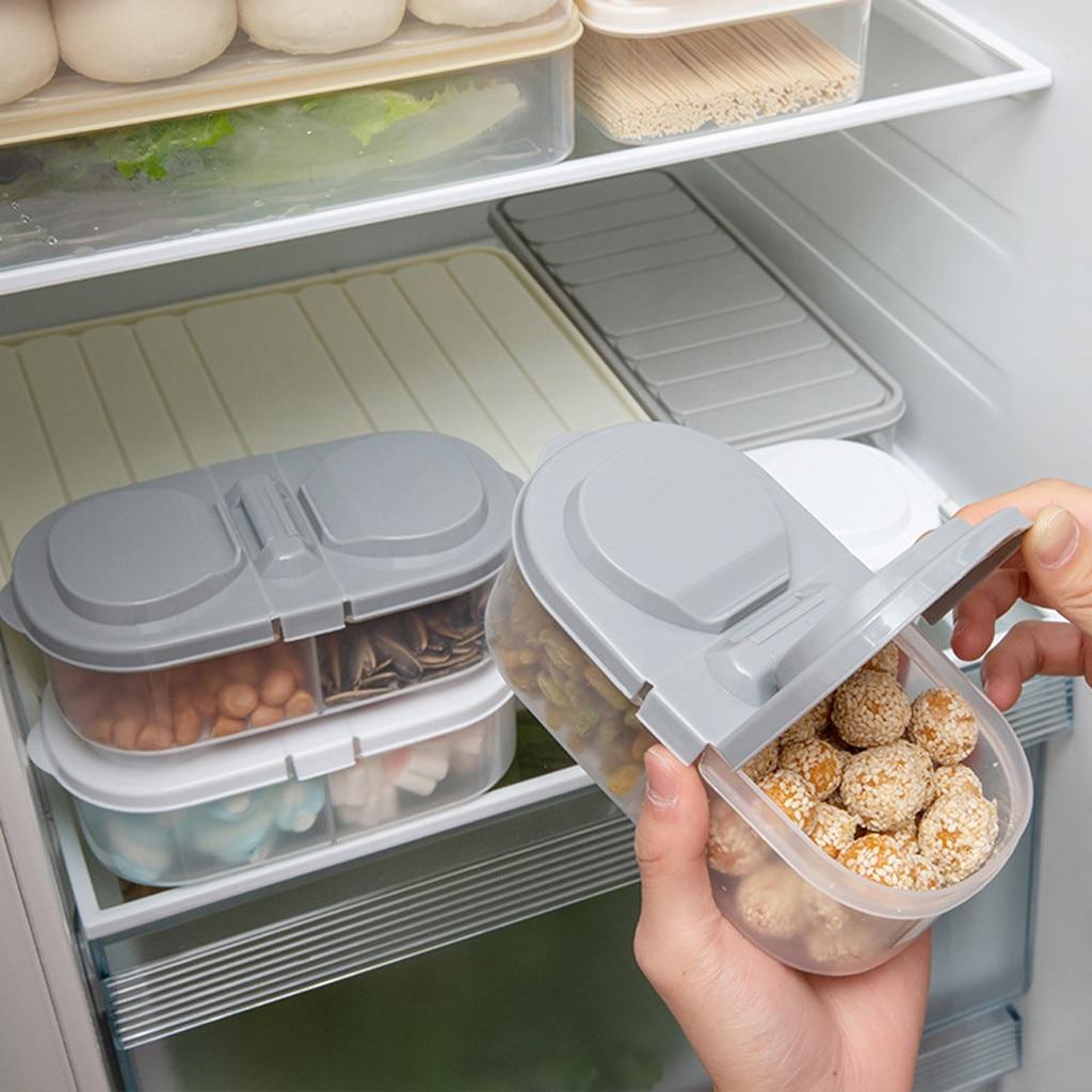 Kitchen Refrigerator Storage Box Food Container Fresh Spacer Layer Storage Rack Pull-out Drawers Fresh Sort Organizer 2019