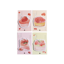 1pack/lot Lovely Pink Sweet Cake Dessert Berry Cherry Memo Sticky Notes Girls Gifts Students Stationery School And Office Label