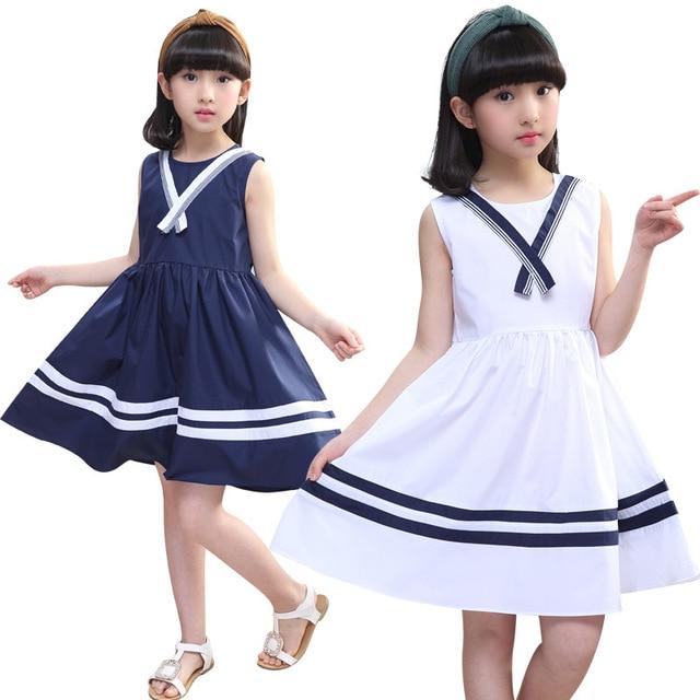 f847e7d981c1 Gulugulumi Brand 2018 New Design Baby Girls Summer Dress Sleeveless Dress  Kids Fashion School Casual Striped