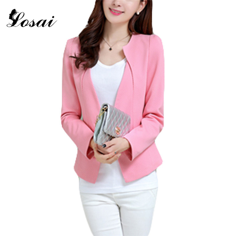 WAQIA Suit Ladies Long Sleeve Women Slim Blazer Coat Jacket