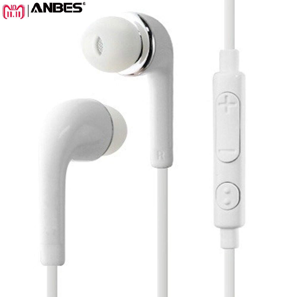 ANBES Headphones 3.5mm Jack Earphone Earbuds Stereo Wired Headset with Mic for Iphone Sony Xiaomi Samsung S7 S8 S9 auriculares