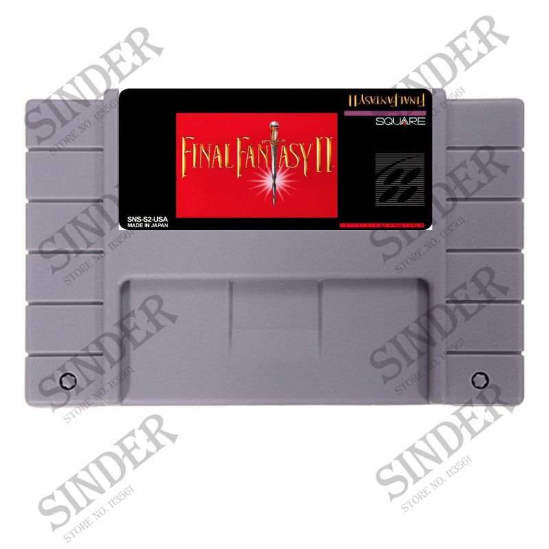 Final Fantasy 2 16 bit Big Gray Game Card For NTSC/PAL Game Console