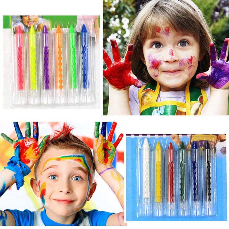 New 6pcs/set Painting Toys Baby Crayon Drawing Esucational Toys For Children Kids Body Face Panting Pen Makeup Toy Oyuncak Learning & Education