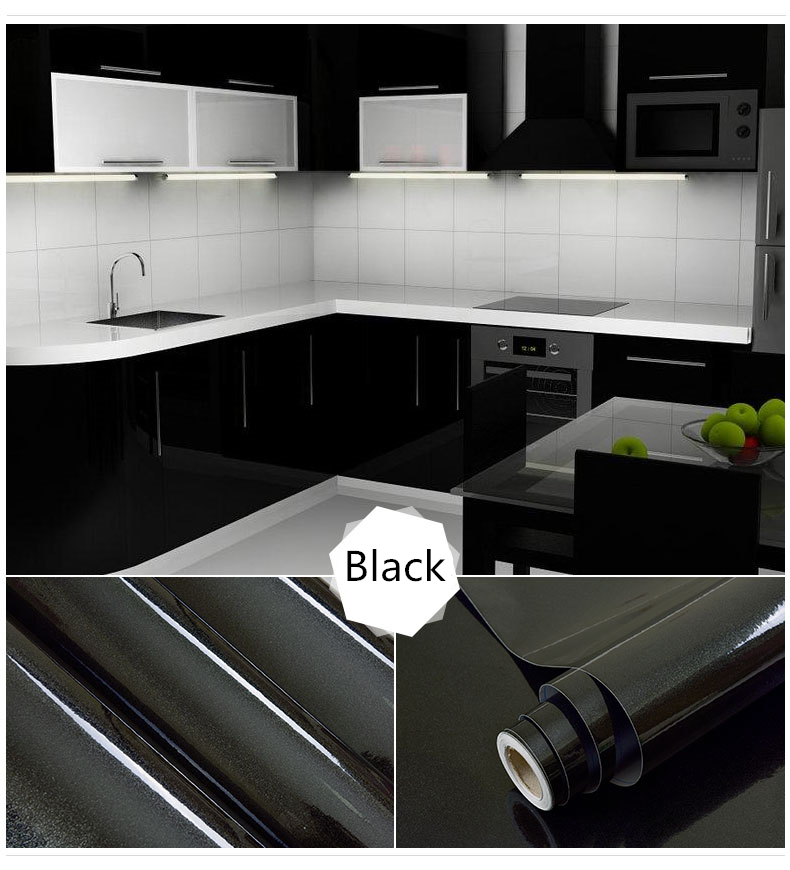 3/5 Meter PVC Self Adhesive Furniture Renovation Stickers Kitchen Cabinet  DIY Wall Paper Waterproof Wallpaper Decorative Film