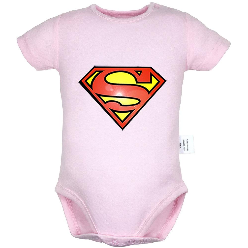 Superman Cat Pokemon Design Newborn Baby Boys Girls Outfits Jumpsuit Infant Bodysuit Short Sleeve Clothes 100% Cotton Onesies